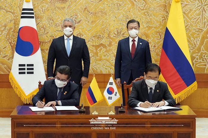 대통령 임석하 서명식